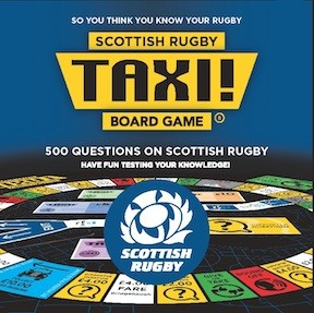Scottish Rugby game box lid